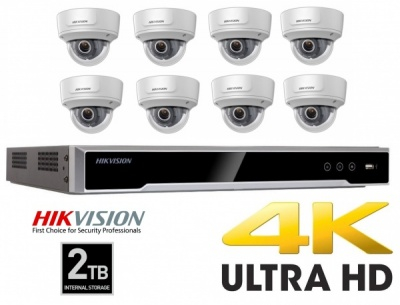 Hikvision 4K CCTV Security Camera NVR 8MP Home Recording Kit Dome High Resolution