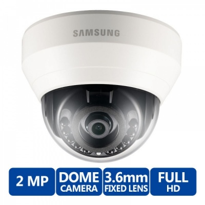 Samsung SND-L6013R 2MP Full HD WiseNet Internal Security IR LED Dome CCTV Camera