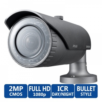 Samsung SNO-6084R 2MP Full HD 1080P Weatherproof Network IP IR LED CCTV Camera