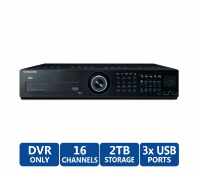 SAMSUNG SRD-1652D 16 CHANNEL CIF H.264 DVR SMARTPHONE VIEWING CCTV DDNS 500GB HDD