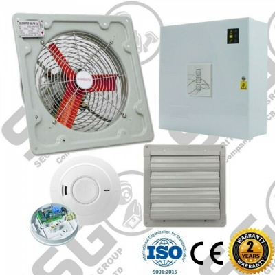 AOV Air Vent Smoke Extractor Ventilation Fan High Temp Control Panel Kit
