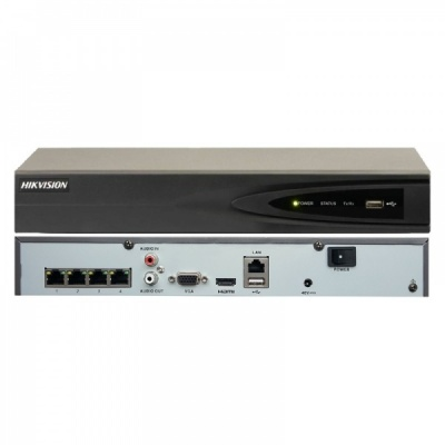 Hikvision DS-7604NI-K1/4P Embedded Plug & Play 4K 4 Channel Surveillance CCTV NVR PoE