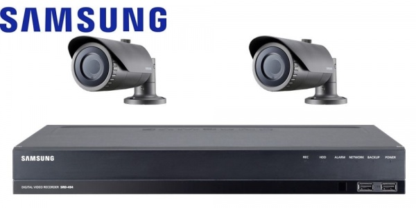 samsung cctv hd 1080p security camera system with recorder plug play hdsdi group. Black Bedroom Furniture Sets. Home Design Ideas