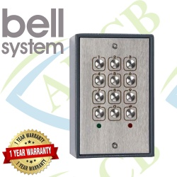 Bell System 216 Stainless Steel Vandal Resistance Surface Keypad Access Control