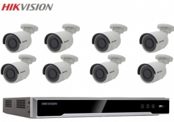 Hikvision 8 Bullet Surveillance Camera 4MP External 8CH Network Recorder 1TB Kit