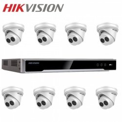 Hikvision 8 Turret Surveillance Camera 4MP External 8CH Network Recorder 1TB Kit