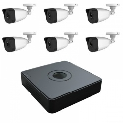 Hikvision HiWatch I108-A/2T - 8 Channel 1080p NVR 6x 1080p Bullet Cameras 2TB HDD CCTV Kit