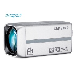 SAMSUNG SCZ-3430P HIGH RESOLUTION BODY BOX CAMERA 43X ZOOM DAY/NIGHT CCTV CAMERA