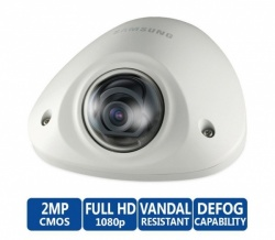 Samsung SNV-6012M External Flat 2MP HD Vandal Resistant Network IP CCTV Camera