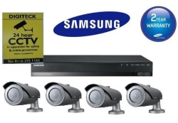 Samsung Full HD Home Security Kit SRN-472S NVR & 4 SNO-6084RP Cameras Complete