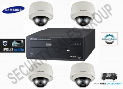 Samsung 4 Channel CCTV IP Network Package Kit 1x 4CH NVR + 4x VandalProof Camera