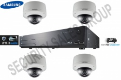 Samsung CCTV Kit 1x 16 Channel NVR 1TB + 4x 3MP IP HD Vandal Proof CCTV Cameras