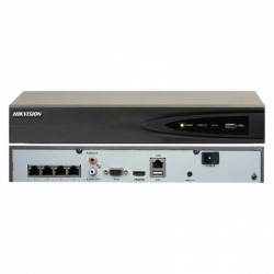 Hikvision DS-7604NI-K1/4P Embedded Plug & Play 4K 4 Channel Surveillance CCTV NVR PoE 4TB HDD Included