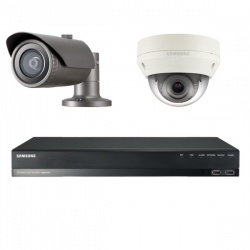 Samsung 2MP CCTV Security Package 2 Camera Dome Bullet Full HD 1080p IP PoE + 1TB NVR Kit SRN-472S QNV/QNO-6030R